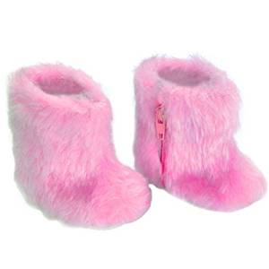 18 Inch Doll Boots, Doll Clothes Item of Hot Pink Fur Boots. Perfect for American Girl Doll Shoes & More! Apres Ski or Winter Fluffy Fur Hot Pink Doll Boots