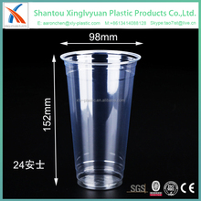 24 OZ custom printing making transparent smoothie plastic cup