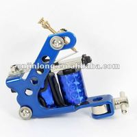 8 Wraps Cast Iron Tattoo Machine ,available withAC 3-9V Start Voltage from JinLong