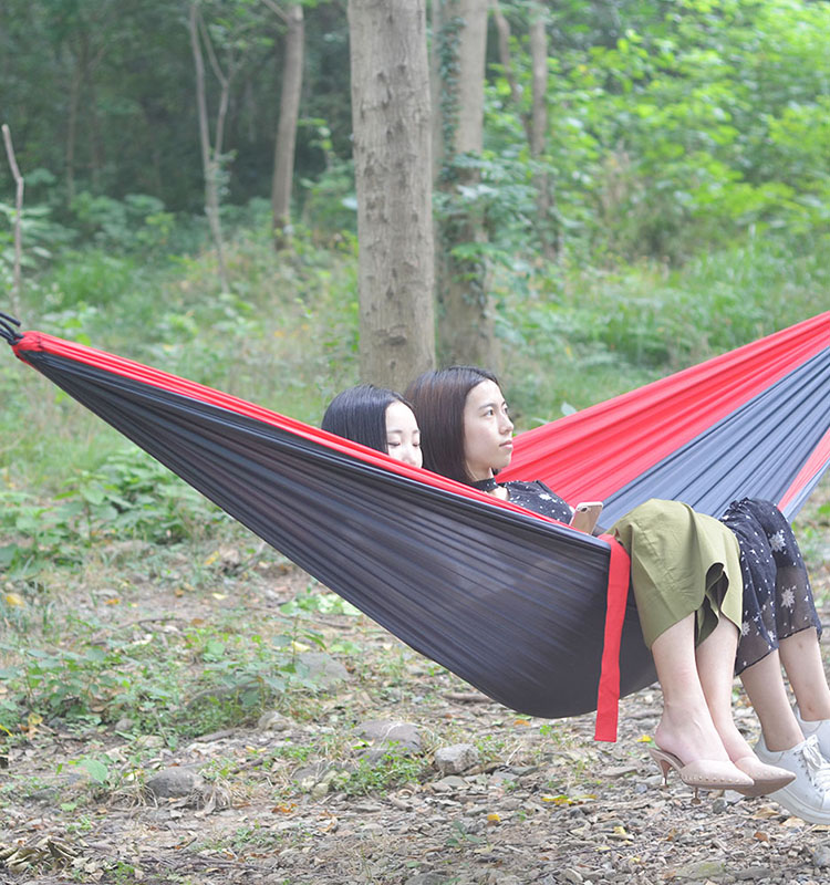 Medium image of amazon best selling eno hammock waterproof nylon parachute fabric hammock with  pact bag