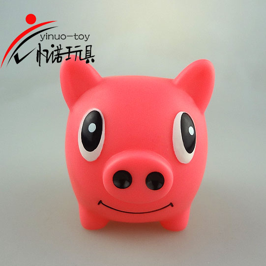 Eco-friendly pvc material money box super cute pink pig piggy bank plastic