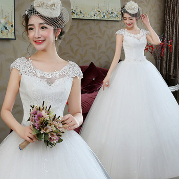 2018 Modern Simple Elegant Bridal Gown Plus Size Cheap Ball Gown Cap Sleeve Wedding Dresses Buy Cheap Bridal Gown With Sleeves Plus Size Bridal Gowns Plus Size Corset Wedding Gowns Product On Alibaba Com,Short Summer Dresses For Weddings