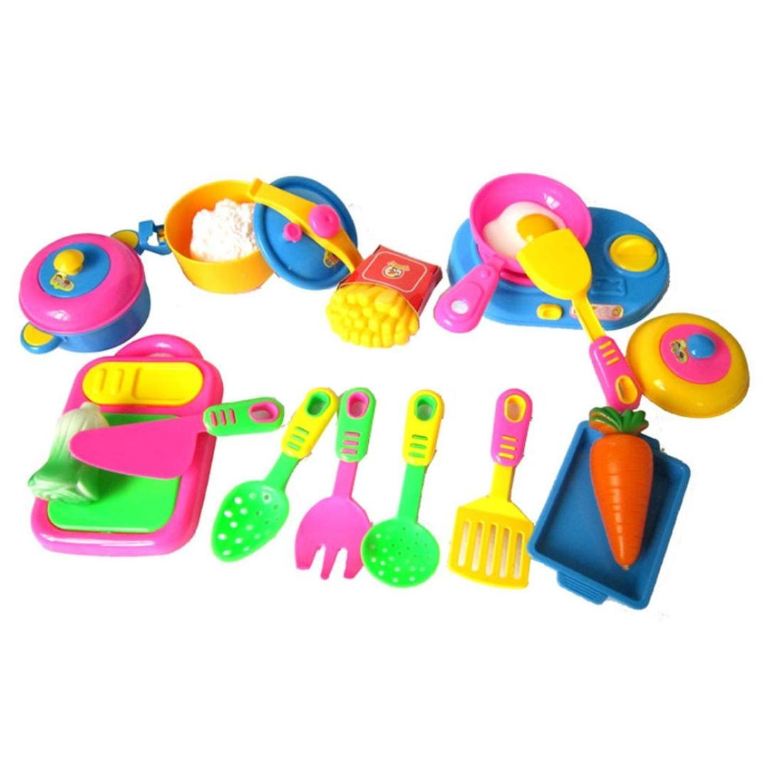 Buy Owill Toy Gift Sets 17pcs Plastic Kids Children Kitchen Utensils Food Cooking Pretend Play Set Toy In Cheap Price On Alibaba Com
