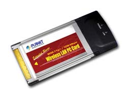 Planet WL-3560 - 54/108Mbps standard 11g PCMCIA Wireless LAN Adapter