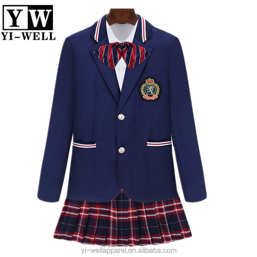 New Design High School Blazer Shirt Skirt Pants Set Uk School