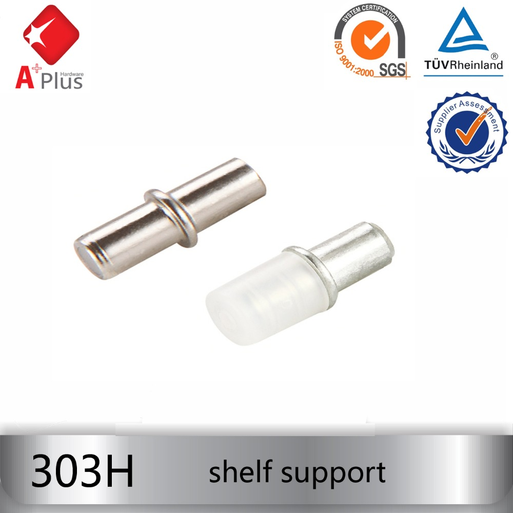 303H shelf support with 8mm pin invisible metal cabinet shelf support shelf support pins glass bracket