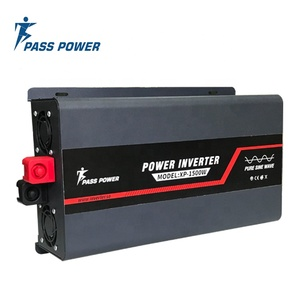 Single phase inverter 12v dc to 220v ac 2000W offgrid Power pure sine wave Inversor 2kw grey with 2 AC Outlets and LCD