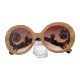 AC lens PC frame Hinge Look Like Wood Print Sunglasses Bamboo Sunglasses Cheap Sun glasses