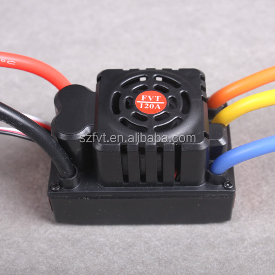 FVT 120A Brushless Motor ESC Car Speed Controller For Remote Control RC Car