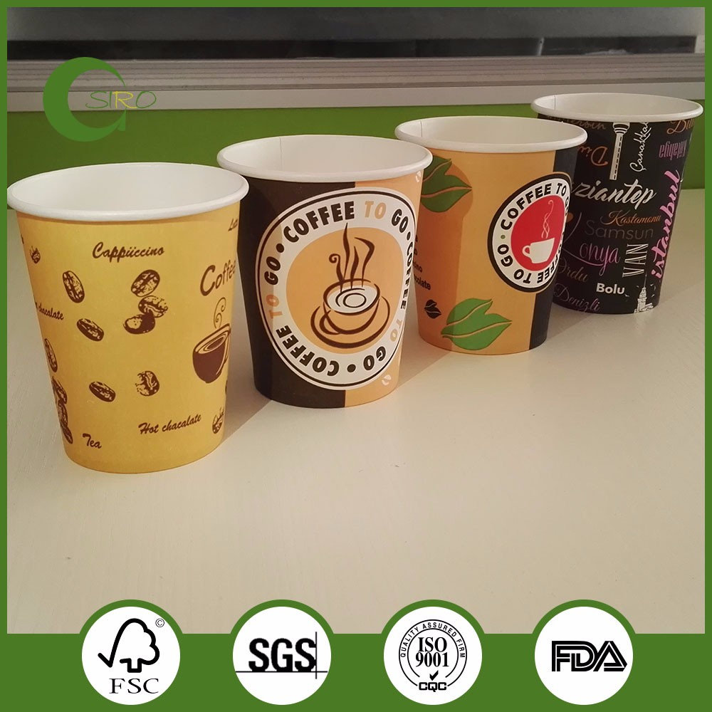disposable logo printed coffee paper cups coffee paper cup designs