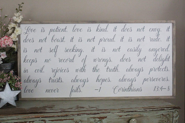 Buy 1 Corinthians 13 4 8 Love Is Patient Love Is Kind Love border=