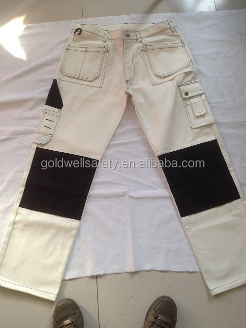 Work Cargo Pants With Knee Pad And Multi Pockets