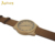 Custom bamboo wood men watch smart with leather strap