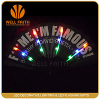 Chinese Personalized Silk Led Lighted Hand Fan,Folding Paper Fan