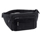 Functional Men Black Fanny Pack Waist Bag Money Phone Belt Bag
