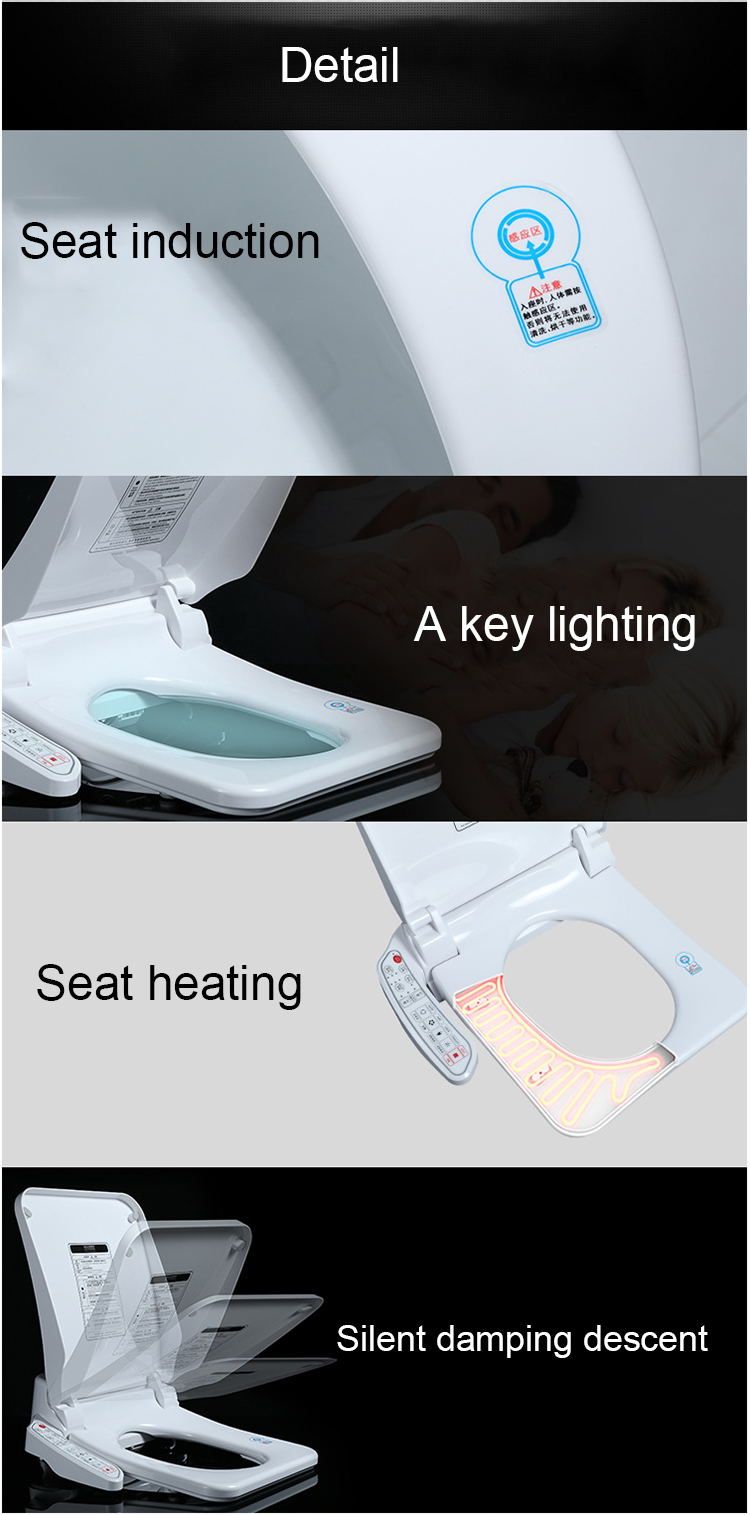China products electric intelligent bathroom toilet seat automatic toilet seat cover