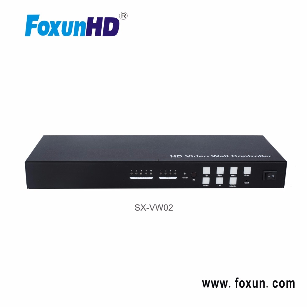 4 to 1 video wall controller VGA/AV/USB/HDMI to HDMI Converter + Splitter 1X4 + video wall controller 2X2