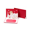 Paper Spiritz 3D Handmade Hot-Stamping Wedding Card Invitations With Envelope