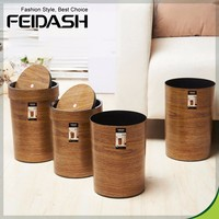 2017 Wholesale Wooden trash can garbage bin