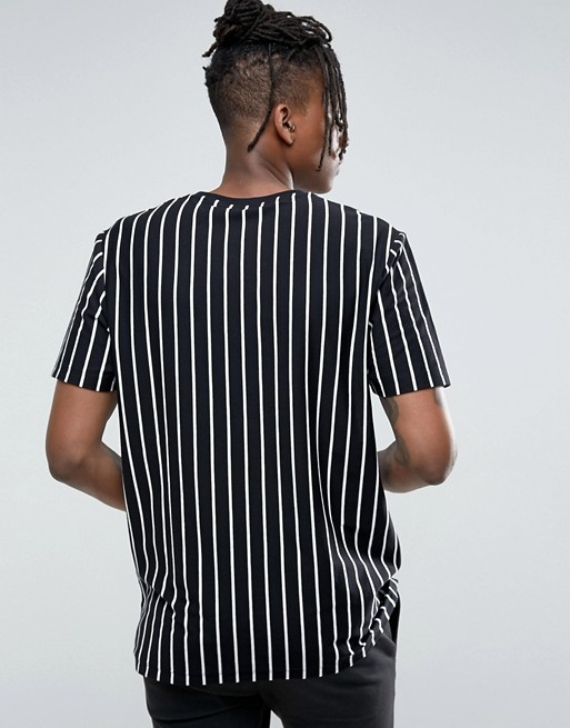 30024a65aec vertical striped men black and white stripe t-shirt custom bulk striped t  shirts with
