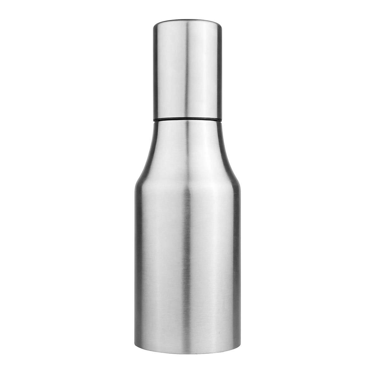 Oil Dispenser, Powstro Stainless Steel Olive Oil/Vinegar/Sauce Cruet,Essential Oil Bottle Edible Oil Container Pot, Leak-proof Oil Pot (500ml)