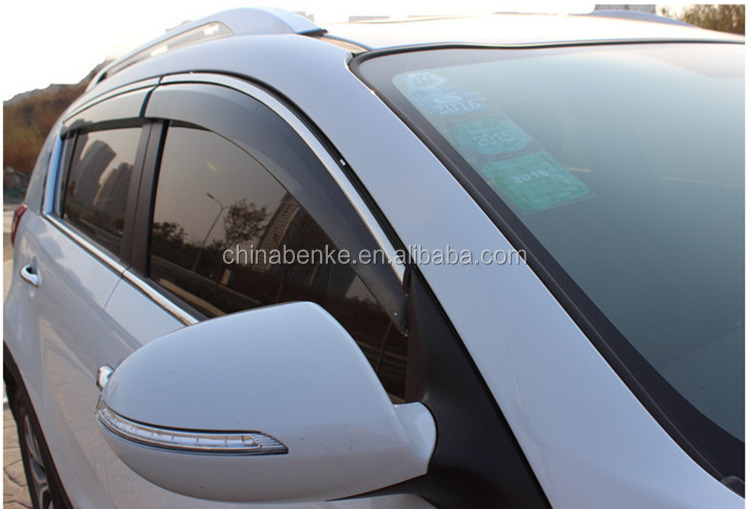 Door Visor For NISSAN JUKE 2014-2016 Car Injection Window Deflectors Vent Visor,High quality Deflector with stainless steel.