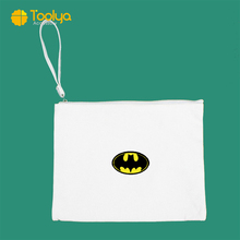 도매 제 Canvas Coin Purse 변경 Purse Canvas Zipper Bag Suitable 대 한 손-painted DIY