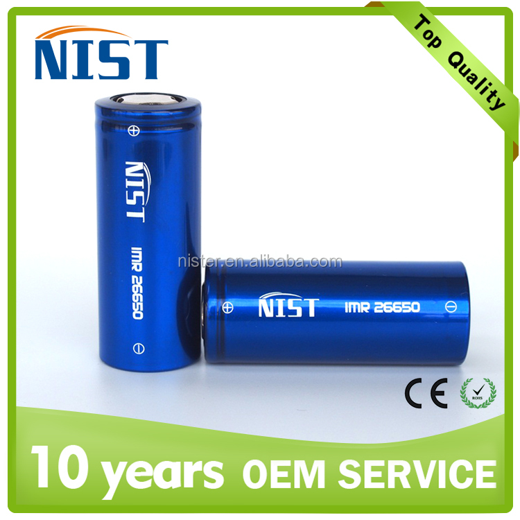 New discount rechargeable li-ion 26650 batteryNIST 26650 5200mah 50A li-ion battery