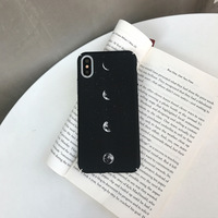 Black Star Eclipse Applicable for Apple XS Max/XR Mobile Phone Hard PC Case for iPhone7plus/6s/8 Tide Men and Women Models