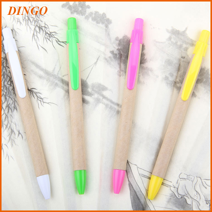 Logo Customized Promotional Eco Recyclable Paper Pen