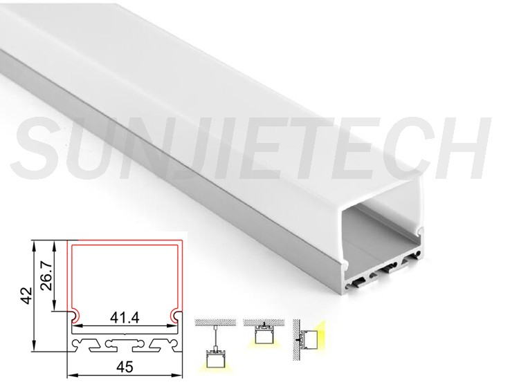 Big Size Led Strip Aluminum Profile For Architectural Lighting ...