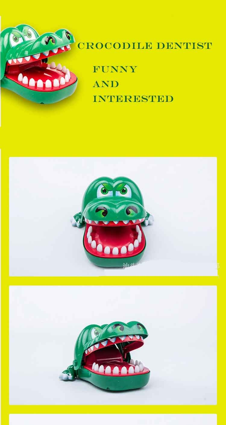 Funny Press Cayman plastic alligator Bite Finger Toy