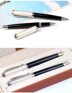 Huahao brand Top-grade cap-off metal pen set calligraphy smooth writing roller pen with gift box
