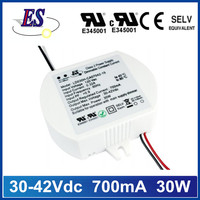 30-42Vdc 700mA 30W constant current dimmable led driver power supply with Triac dimming,UL CUL CE approval