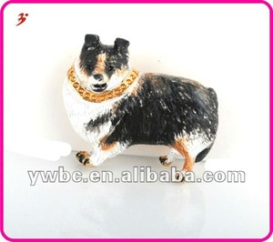 manufacture offer alloy fashion sitting pet dog pendant jewelery (A1105260)