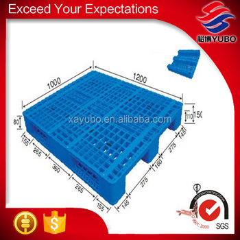1200x1000mm qualified welded solid deck plastic pallet, packing and transportion pallet