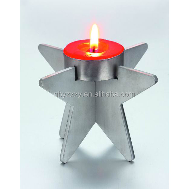 star shaped crystal tealight candle holder