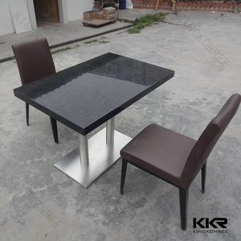 Black Marble Top Dining Hall Table Restaurant Tables