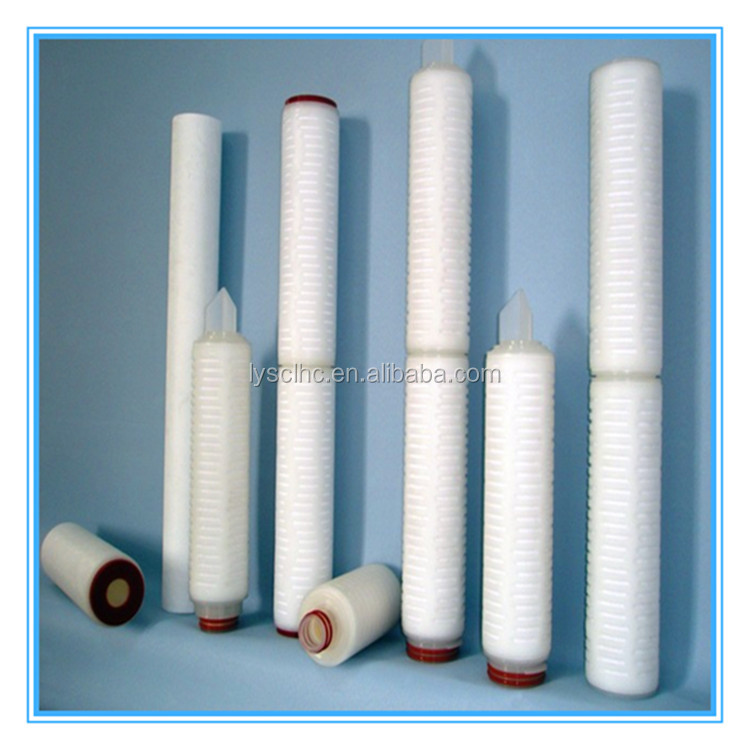 Guangzhou 0.45 micron millipore membrane pvdf folded cartridge filter for wine filter
