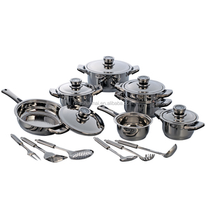 New product 18 Pcs Stainless Steel german cookware sets