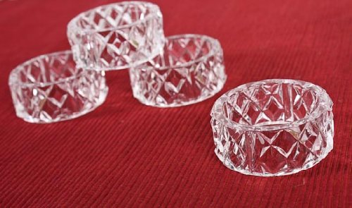 Factory Direct Craft Group of 12 Crystal Look Acrylic Napkin Rings for Home and Holiday Decor