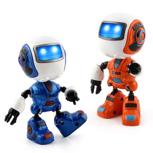New 2018 Educational Toys Sensing Light Music Robot Mini Alloy Model Interactive Robot For Kids