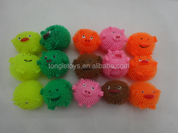 2inch puffer animals flash puffer ball,2inch Animals face for capsule toys
