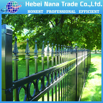 cheap wrought iron fence panels for sale fence panels square tube galvanized steel pipe