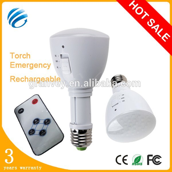 Super long working time,6 hours!!! Portable ABS 4w 350-400lm rechargeable led bulb light e27 for emergency use