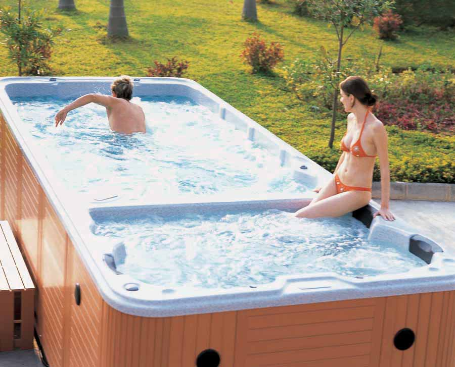 Aristech acrylic spa pool with whirlpool function ship for Uniform swimming pool spa and hot tub code