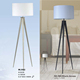 European modern brushed nickle or black painting tripod floor lamp for hotel