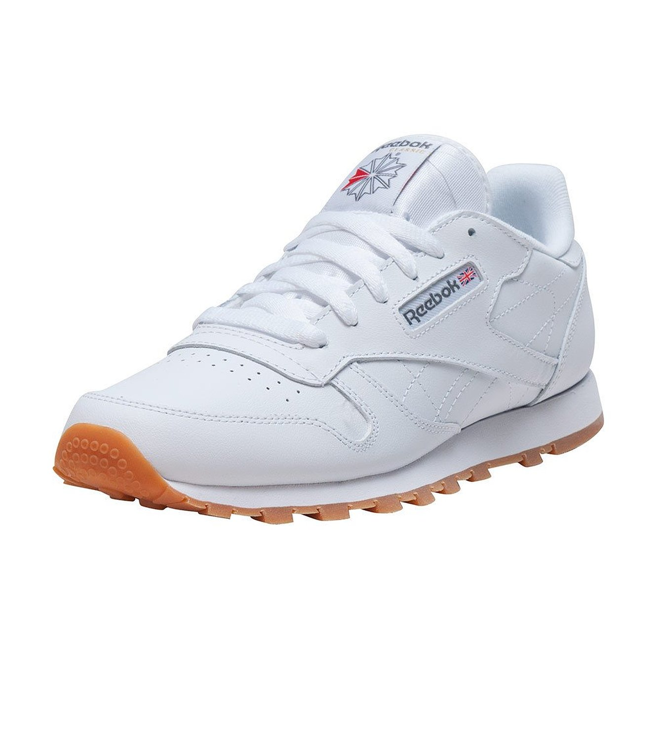 c370fbbe5b9 Get Quotations · Reebok Classic Leather White Gum GS Sneakers