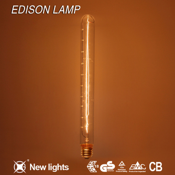 Est Price Decorative Lightings T185 E27 Types Electric Clear Tubular Vintage Edison Light Bulb