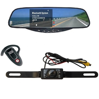 Shock Price Bluetooth Mirror License Plate Car Rear View Camera